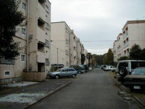 こんな街並みの都営住宅でした